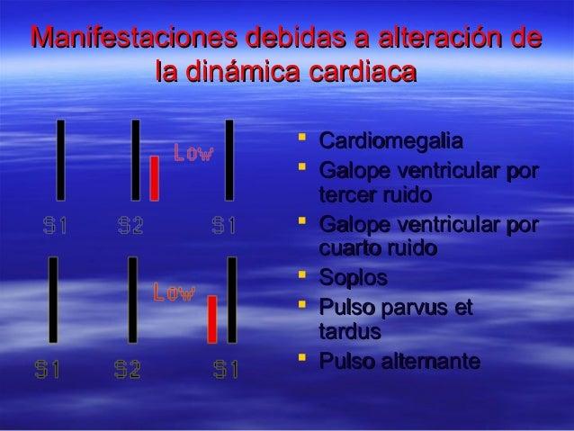Manifestaciones debidas a alteración deManifestaciones debidas a alteración de la dinámica cardiacala dinámica cardiaca  ...