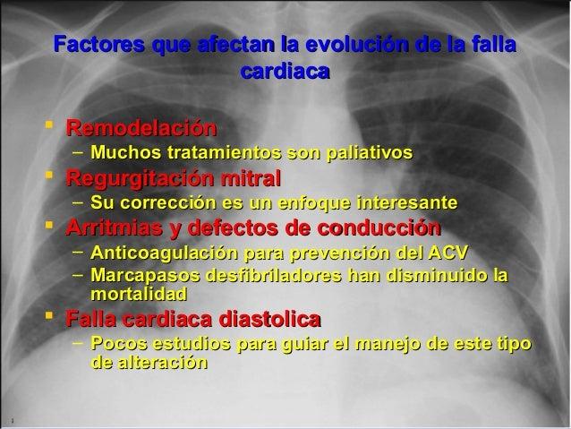 Factores que afectan la evolución de la fallaFactores que afectan la evolución de la falla cardiacacardiaca  Remodelación...