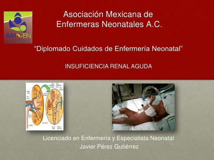 """Asociación Mexicana de      Enfermeras Neonatales A.C.""""Diplomado Cuidados de Enfermería Neonatal""""          INSUFICIENCIA R..."""