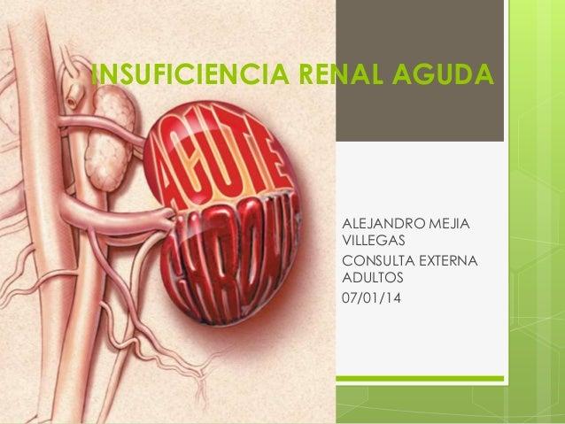 INSUFICIENCIA RENAL AGUDA ALEJANDRO MEJIA VILLEGAS CONSULTA EXTERNA ADULTOS 07/01/14