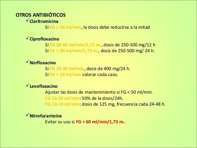 Farmacoterapia En Insuficiencia Renal