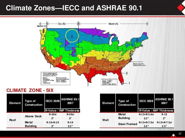 Insulated Metal Panels Edc - Ashrae climate zone map