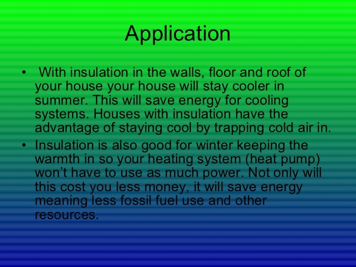 Insulating cold science fair