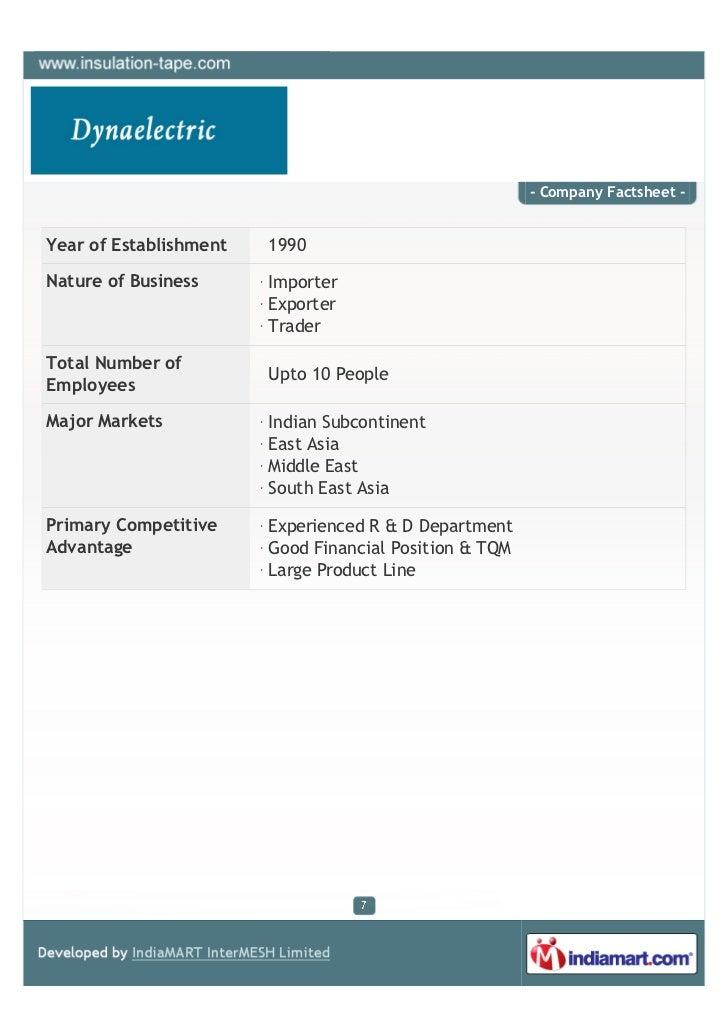 - Company Factsheet -Year of Establishment   1990Nature of Business      Importer                        Exporter         ...