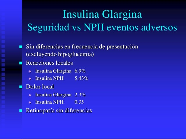 Insulina glargina farmacologia clinica