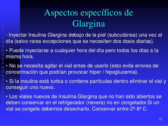 Insulina glargina farmacologia clinica