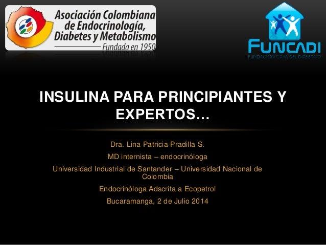 Dra. Lina Patricia Pradilla S. MD internista – endocrinóloga Universidad Industrial de Santander – Universidad Nacional de...