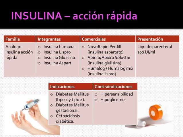 Insulina y antidiabéticos orales