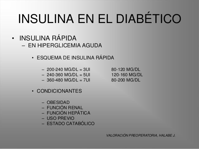 Insulina y dm