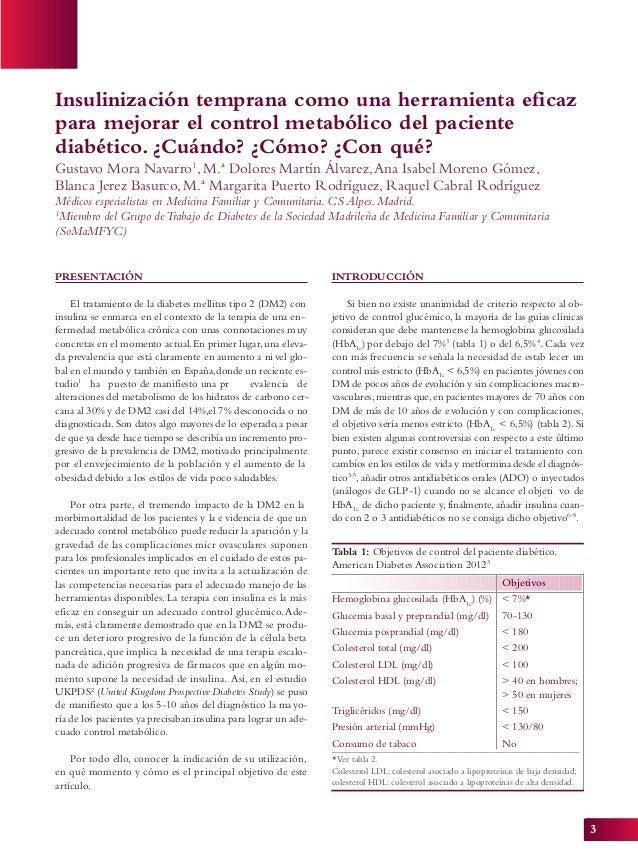 3 PRESENTACIÓN El tratamiento de la diabetes mellitus tipo 2 (DM2) con insulina se enmarca en el contexto de la terapia de...
