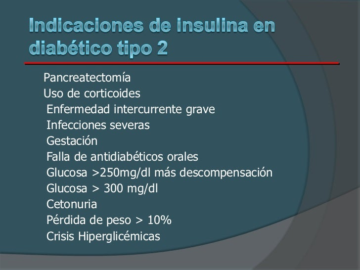 Insulinoterapia en diabetes mellitus tipo 2