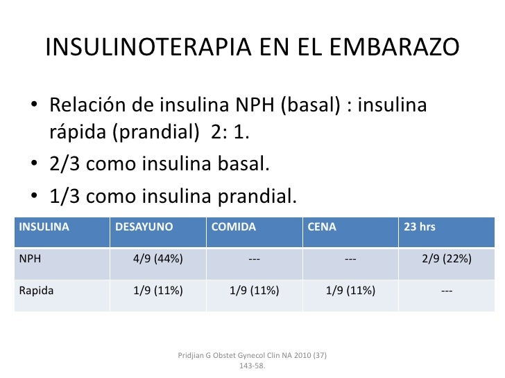 calculo insulina diabetes gestacional