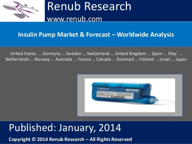 Renub Research www.renub.com Insulin Pump Market & Forecast – Worldwide Analysis United States … Germany … Sweden … Switze...