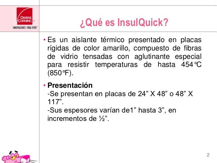 "Aislamiento para uso industrial ""Insulquick"" Slide 2"