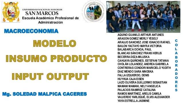 Escuela Académico Profesional de Administración MACROECONOMIA Mg. SOLEDAD MALPICA CACERES COLABORADORES: AQUINO GUANILO AR...