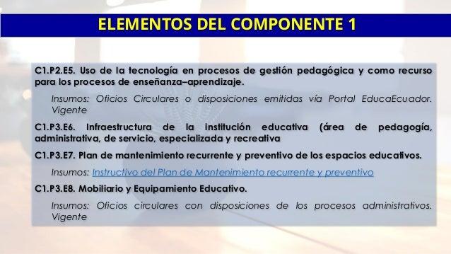 Insumos por componentes del PEI 2017 Slide 3
