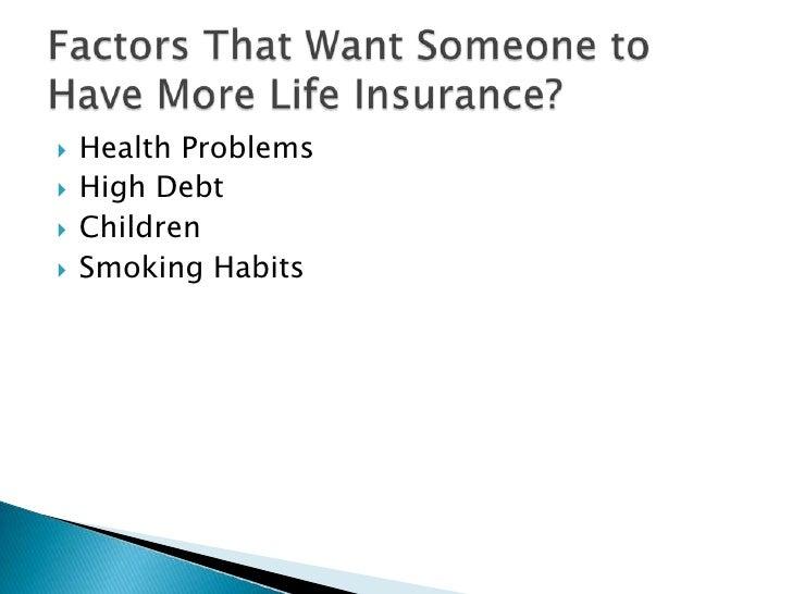   Health Problems    High Debt    Children    Smoking Habits