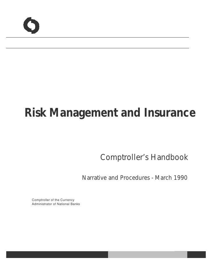 Risk Management and Insurance                                         Comptroller's Handbook                              ...