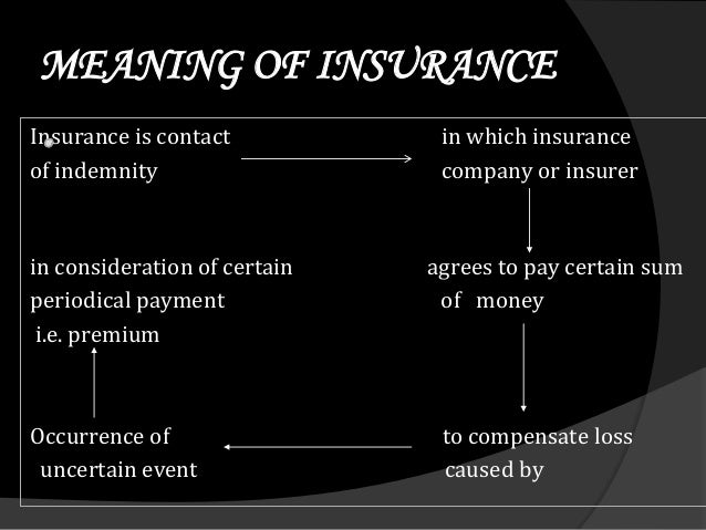 An arrangement by which a company or the state undertakes to provide a guarantee of compensation for specified loss, damag...