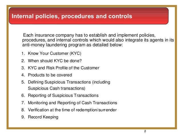 Insurance anti money laundering for Anti money laundering program template