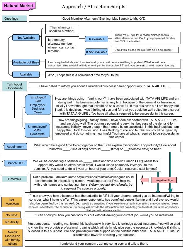 Insurance   approach scripts Slide 2