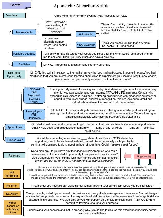 Insurance   approach scripts Slide 3