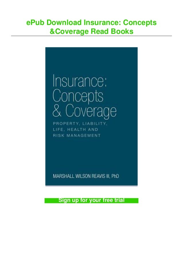 ePub Download Insurance: Concepts &Coverage Read Books Sign up for your free trial
