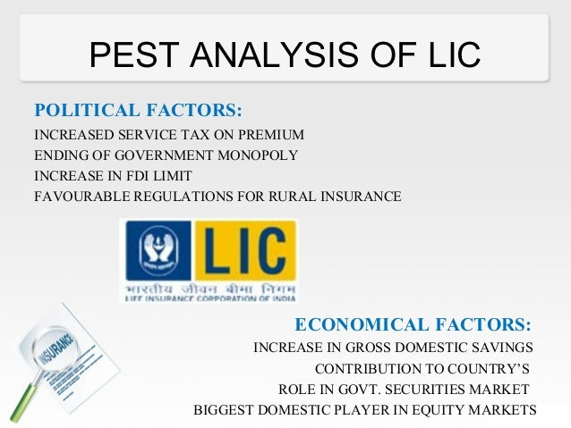 pest analysis of icici prudential life insurance The life insurance business is about long term relationships,  source:  mckinsey analysis 2015, circ annual report,life insurance council,.