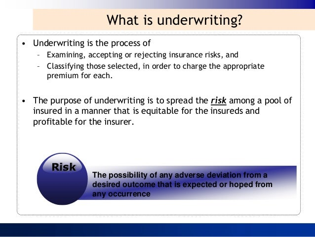 Insurance Underwriting