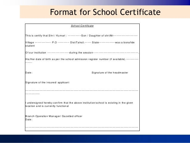 how to write application for bonafide certificate to principal