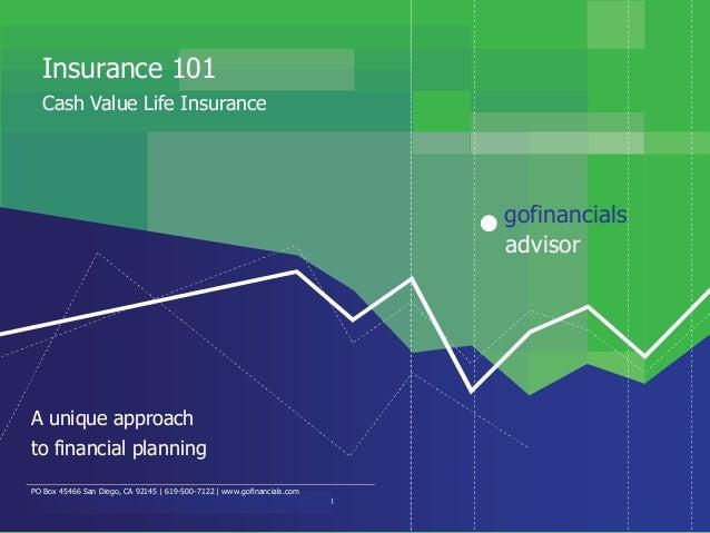 Insurance 101   Cash Value Life Insurance                                                                                 ...