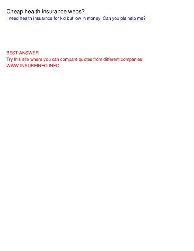 Cheap Health Insurance >> Cheap Health Insurance Webs
