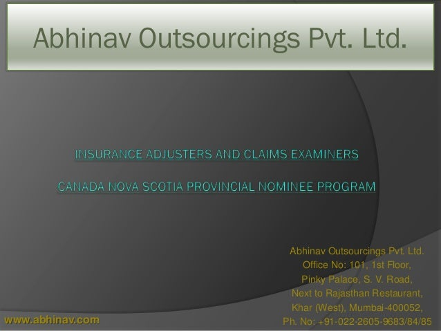 Abhinav Outsourcings Pvt. Ltd. Office No: 101, 1st Floor, Pinky Palace, S. V. Road, Next to Rajasthan Restaurant, Khar (We...