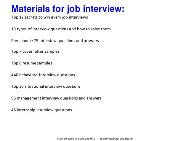 Beautiful Interview Questions And Answers ...