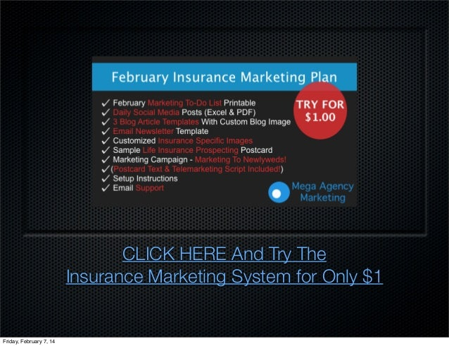 Insurance agency marketing plan for february