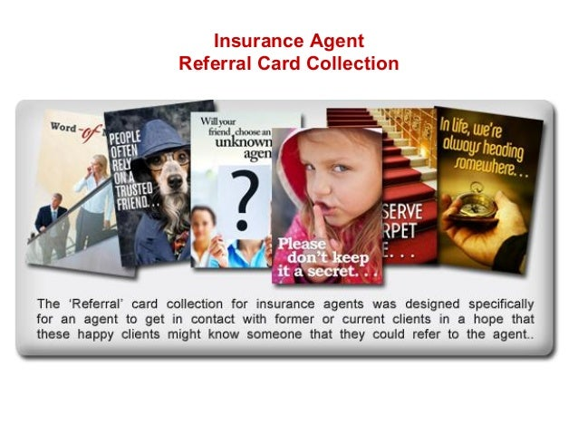 Insurance Agent Referral Card Collection
