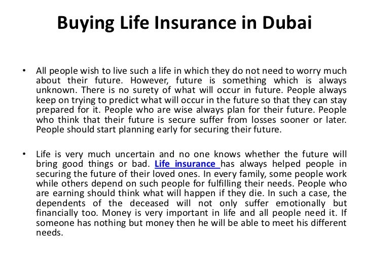 Insurance and Credit cards Dubai