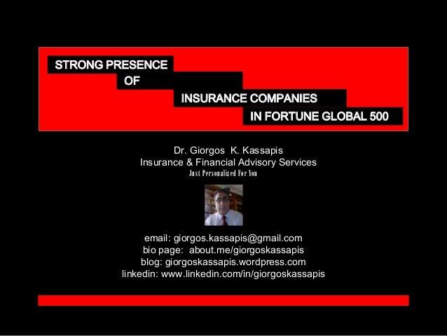 Dr. Giorgos K. Kassapis Insurance & Financial Advisory Services email: giorgos.kassapis@gmail.com bio page: about.me/giorg...