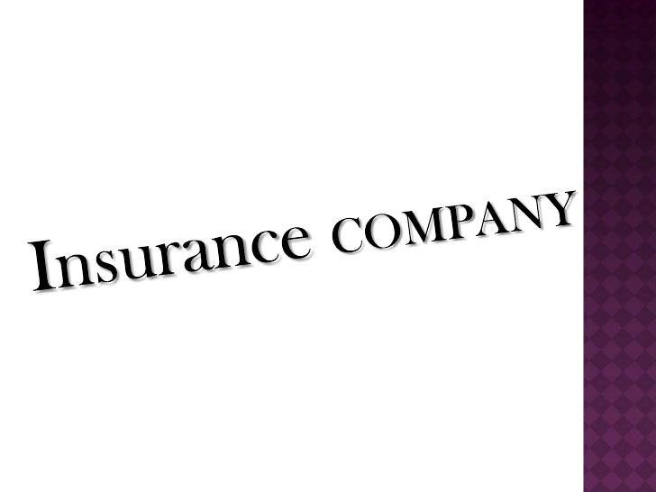 Insurance COMPANY<br />