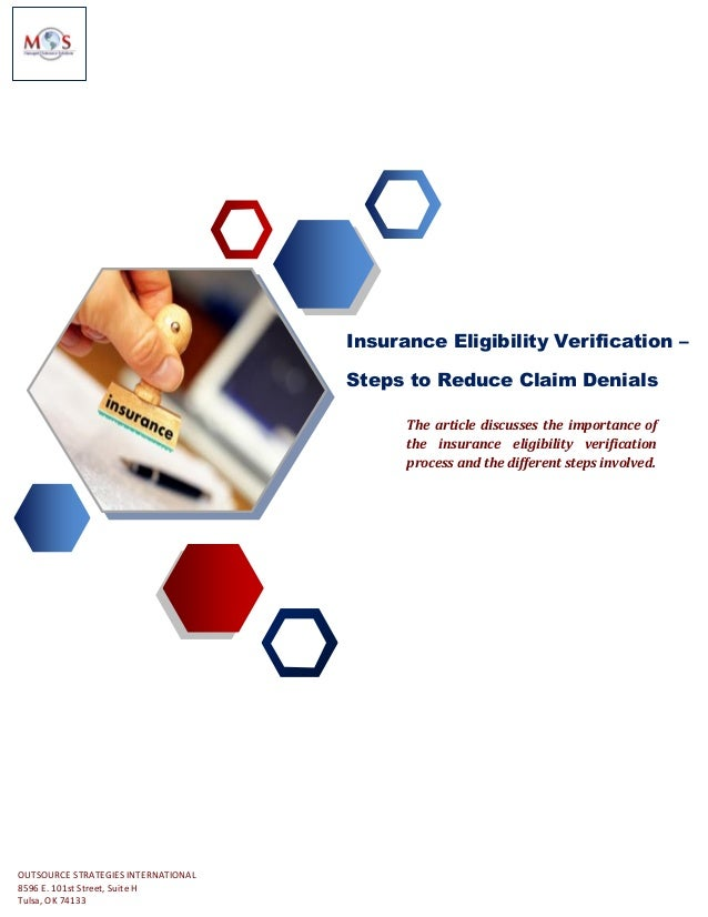 Insurance Eligibility Verification Steps To Reduce Claim Denials