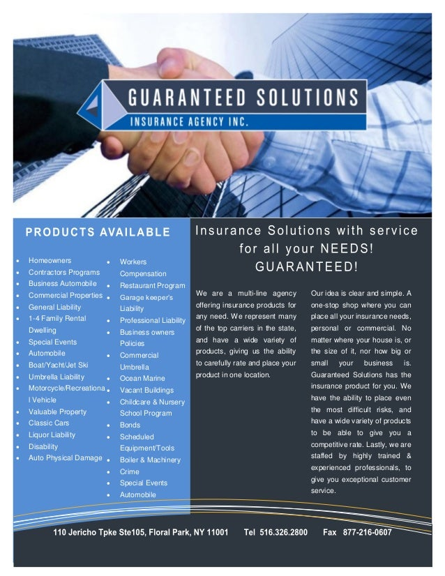    Homeowners                Workers   Contractors Programs       Compensation   Business Automobile       Restaurant...