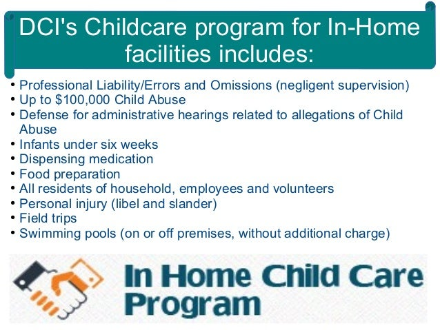 Insurance For In Home Childcare Facilities