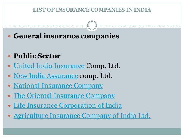swot analysis of general insurance industry in india In india, the insurance was not penetrated much among the general public before   volume of competition and swot analysis of the life insurance industry,.