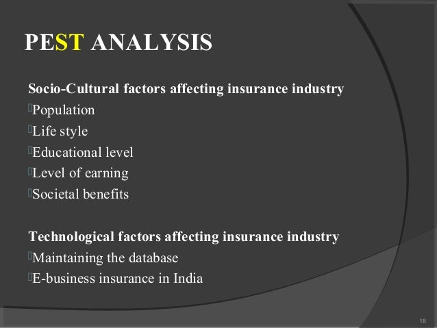 pest analysis of reliance life insurance Pestel analysis of icici prudential economics essay print health or life insurance to the porters 5 forces analysis we can evaluate that the entry into.