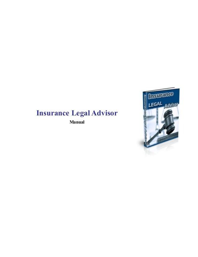 Insurance Legal Advisor Manual