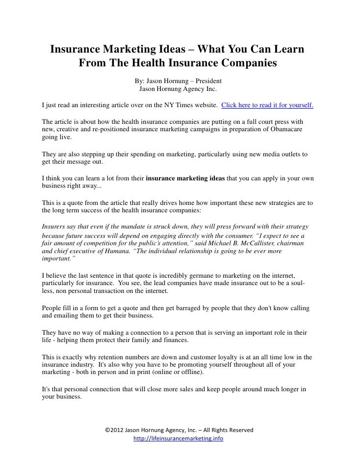 Insurance marketing ideas for the modern agent insurance marketing ideas what you can learn from the health insurance companies solutioingenieria Images