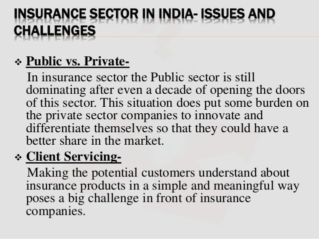 a problem and prospets of insurance Prospects: there should be vigorous campaign through out the country to make the people aware of the utility and prospects of buying insurance.