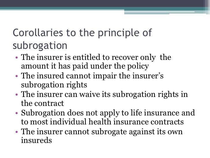 Insurance principles