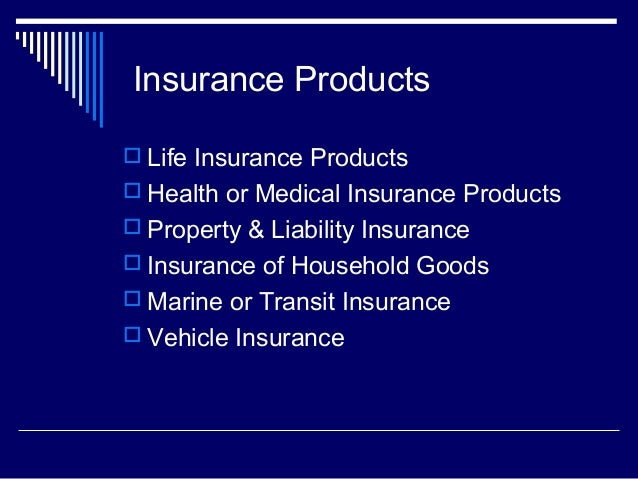 insurance products life insurance