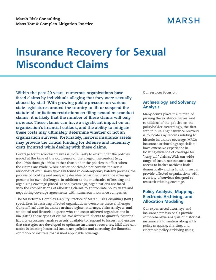 Insurance sexual misconduct